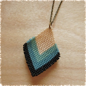 Braided Bead Pendant