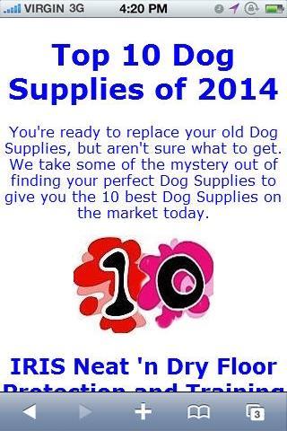 Dog Supplies Reviews