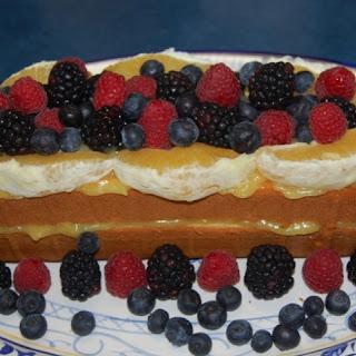 Fruited Orange-Striped Pound Cake.