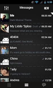 Go SMS Theme Dark Minimal - screenshot thumbnail