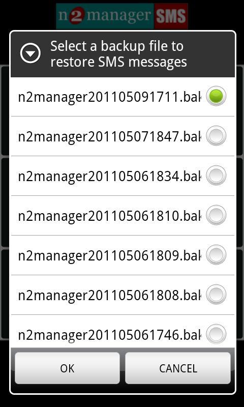 SMS BACKUP PRO n2manager- screenshot