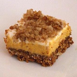 Pumpkin Cheesecake Crumble Squares.