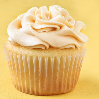 Vanilla Almond Cupcakes with Salted Caramel Buttercream.
