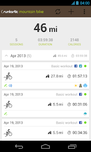 Runtastic Mountain Bike PRO - screenshot thumbnail