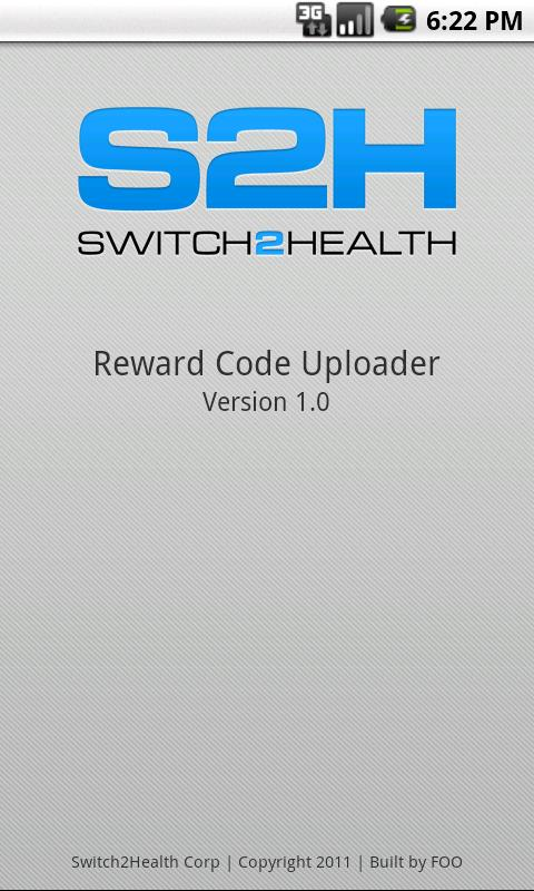 S2H Reward Code Uploader - screenshot