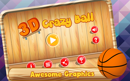 3D Crazy Ball : Physics Game