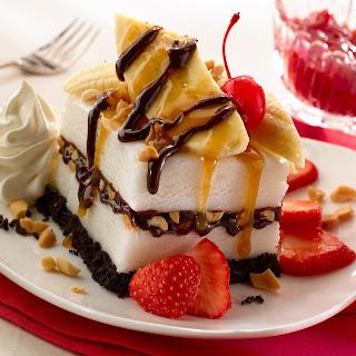 Banana Split Ice Cream Cake.
