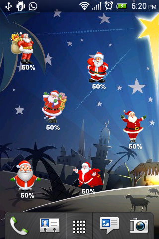 Christmas battery widget FREE
