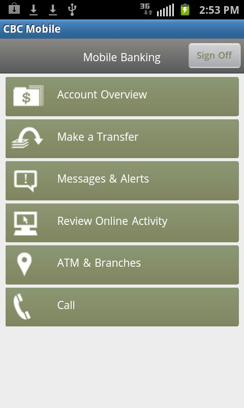 CBC Mobile Banking - screenshot