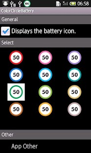 ColorCircleBattery screenshot