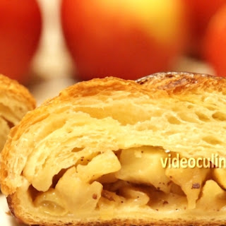 Braided apple filled Danish coffee cake