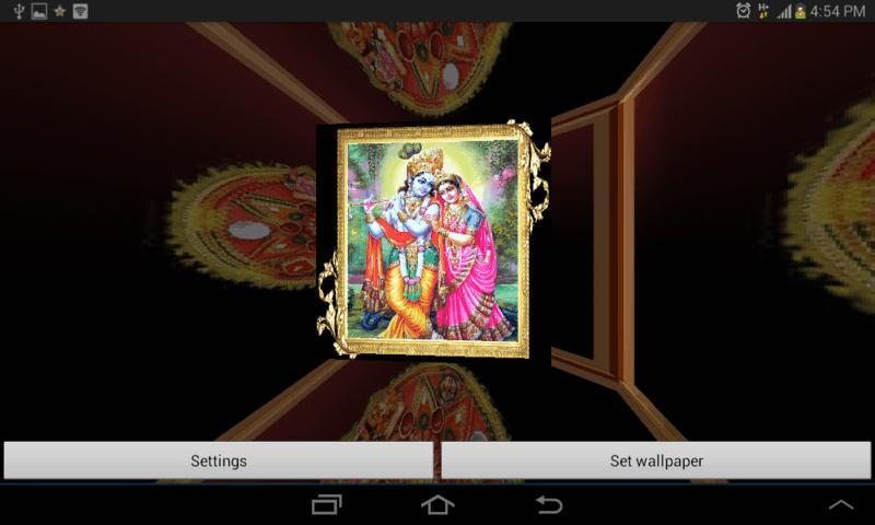 3D Shree Krishna LWP - screenshot