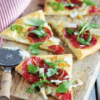Buffalo Mozzarella and Salami Pizza Recipe