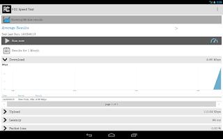 Screenshot of FCC Speed Test