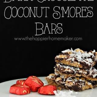 Dark Chocolate Coconut S'mores Bars.