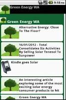 Screenshot of Green Energy WA