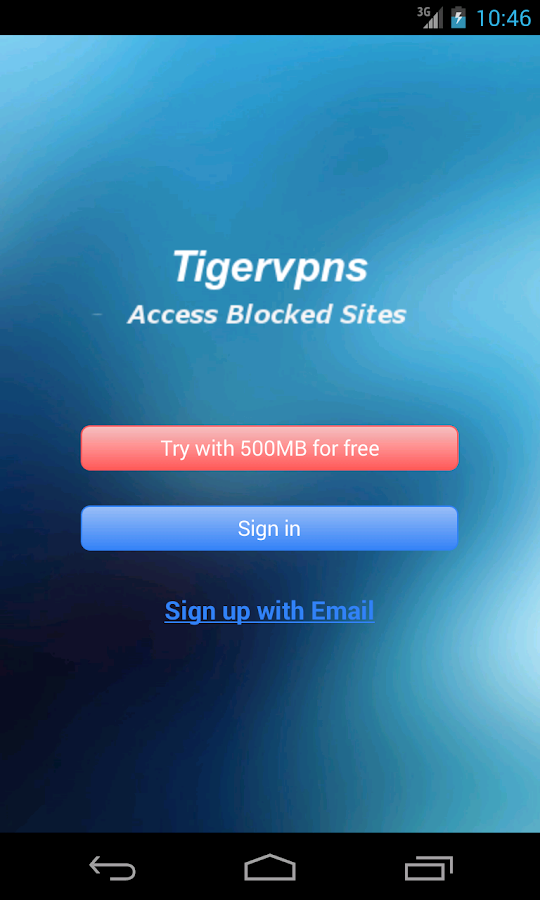 Tigervpns VPN - screenshot