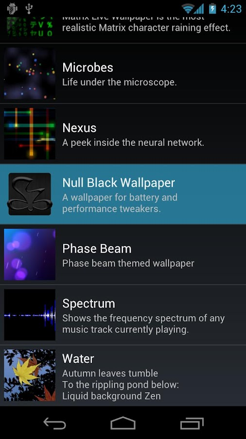 Null Black Wallpaper - screenshot