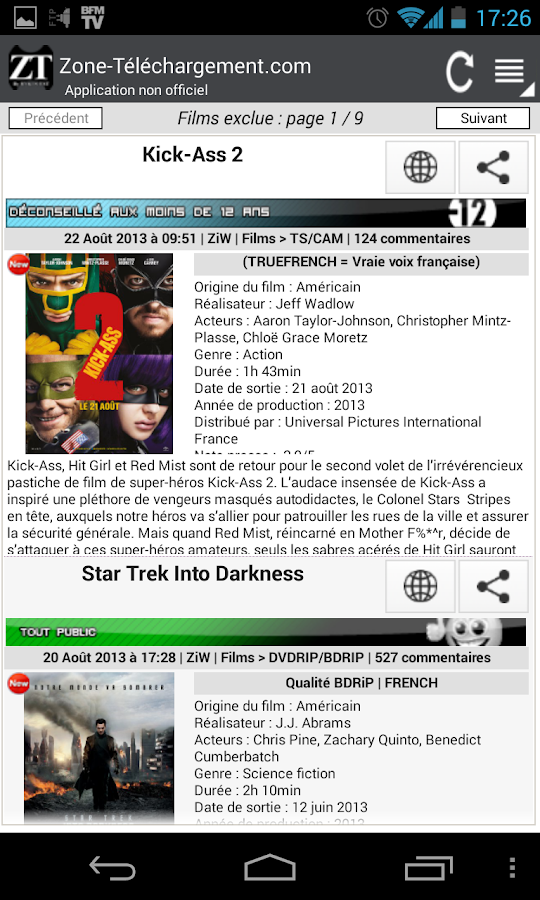Zone-Tele Lite (Non Officiel) - screenshot