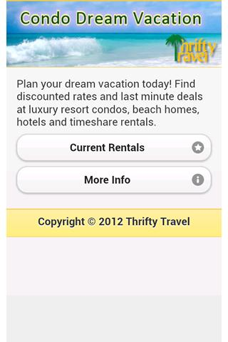 Thrifty Travel Condo Vacations- screenshot