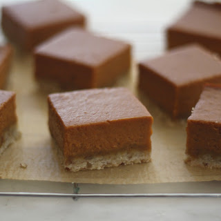 Pumpkin and Burnt Sugar Shortbread Bars