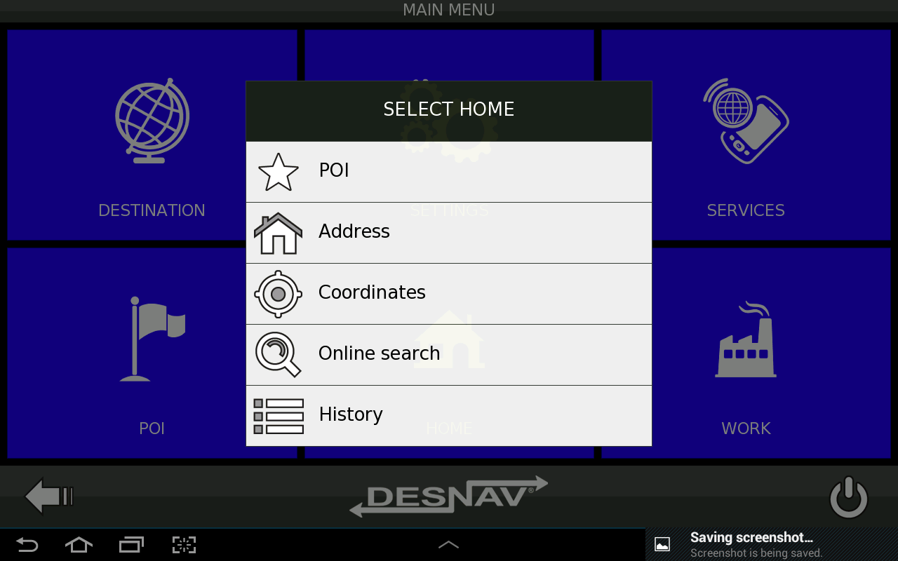 Desnav GPS Navigation (Navteq) - screenshot