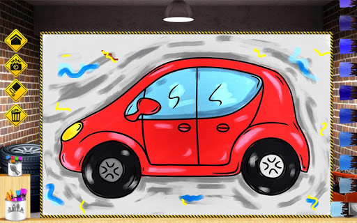 小汽车为孩子们着色书