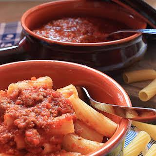 Tortiglioni in Ragu Sauce.