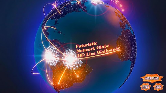 Futuristic Network Globe 3D- screenshot thumbnail