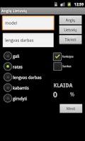 Screenshot of English Lithuanian Dictionary