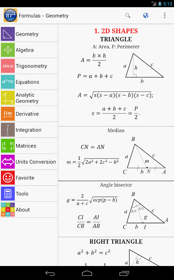 mathematics formula trigonometry