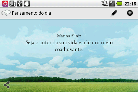 Pensamento do dia - screenshot