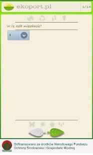 Kalkulator śladu ekologicznego- screenshot thumbnail