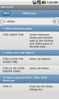 Screenshot of Keyboard Shortcuts