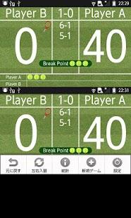 Love40 -Tennis Score Board-- screenshot thumbnail