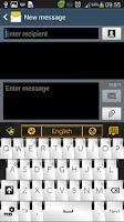 Screenshot of Piano Gold GO Keyboard Theme