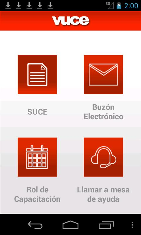 VUCE- screenshot