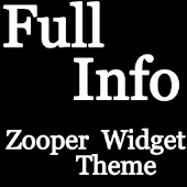 Full Info Zooper Widget Theme