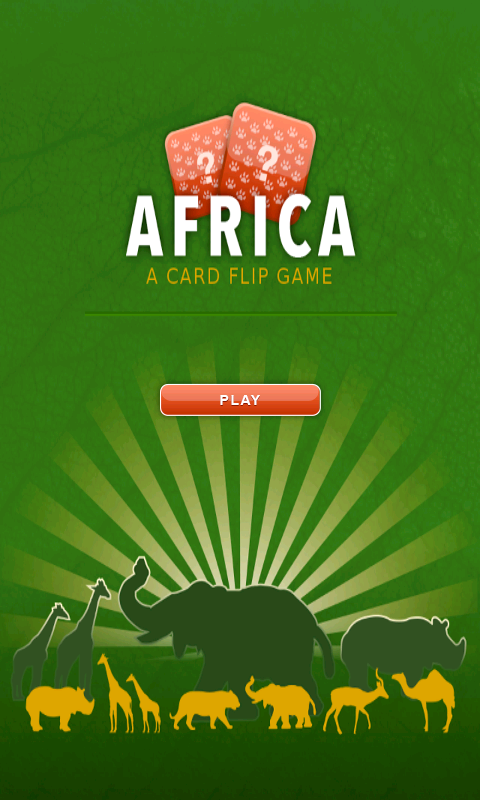 Card flip - Africa- screenshot