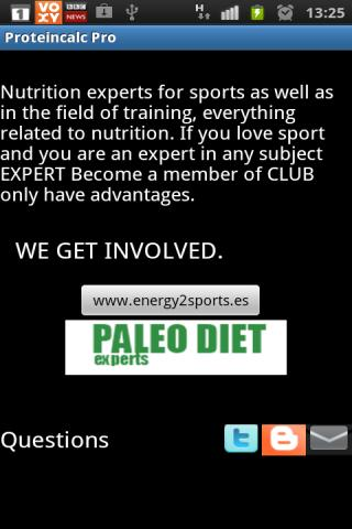 Sports Protein Calculator Pro - screenshot