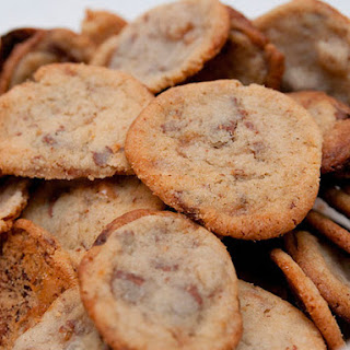 Milk Chocolate Cookies with Ginger and Toffee