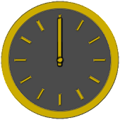 Glossy Analog Clock Widget