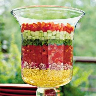 Layered Lebanese Salad.