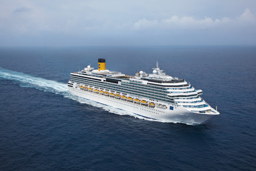 Costa-Pacifica-aerial - Costa Pacifica sails the Mediterranean, Northern Europe and South America.