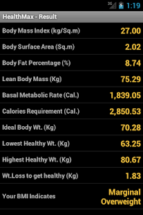 HealthMax - Health Calculator - screenshot thumbnail