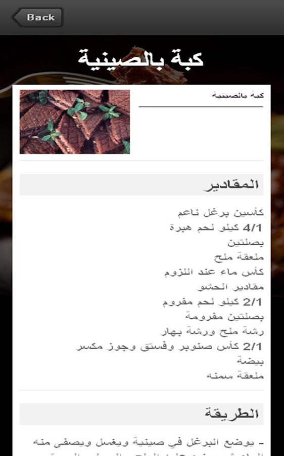 المطبخ السوري - screenshot