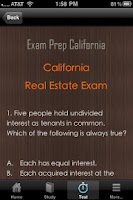 Screenshot of California Real Estate Exam CA