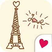 Cute wallpaper★Paris tea