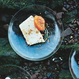 Almond Praline Semifreddo with Grappa-Poached Apricots