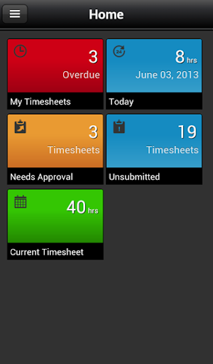 CA Clarity Mobile Time Manager